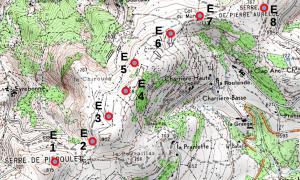 ACE - Carte du projet d'implantation du parc éolien par le promoteur Saméole sur la commune de Pranles, Ardèche