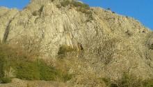 Le clapas du volcan des Chirouses, géopark du Parc naturel régional des Monts d'Ardèche.
